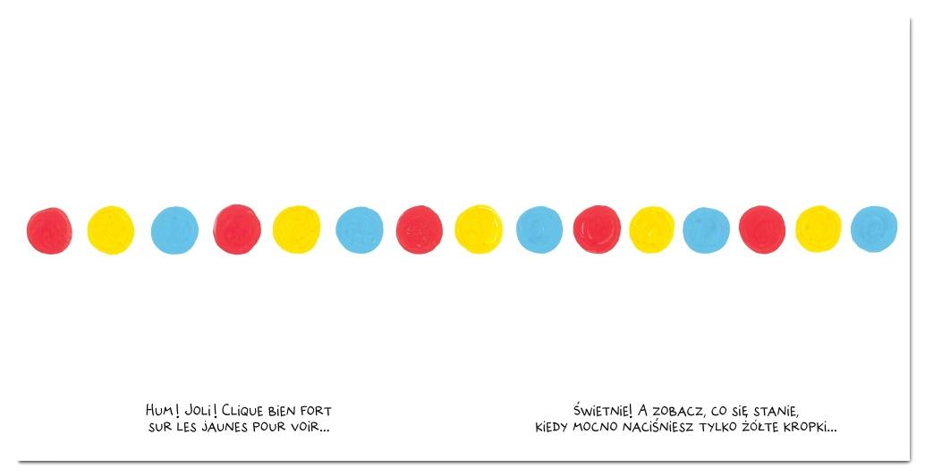 Naciśnij mnie – co się stanie, gdy naciśniesz żółte kropki