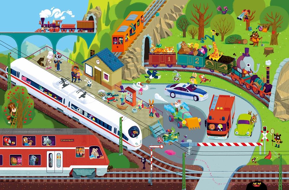 Pociągi – tunel i wiadukt