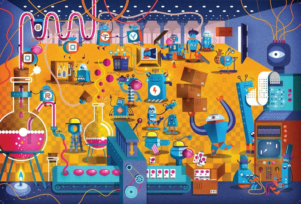 Roboty – fabryka cukierków